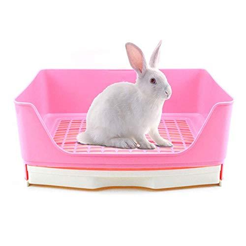 Tfwadmx - Caja de arena para conejos, tamaño grande, para orinal de animales pequeños, bandeja de esquina para entrenamiento de conejos, cobayas, hámster, hurón, rata, chinchilla, erizo
