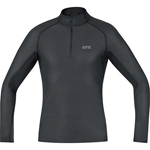 GORE Wear Camiseta interior cortavientos de hombre, L, Negro, 100325