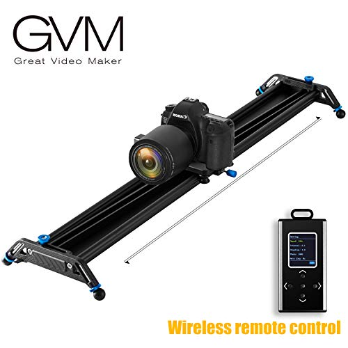 "Motorized Camera Slider Dolly Video Track with Time Lapse Duration and Auto Loop Track System and Wide Angle Shot Aviation aluminum 31""/80cm"