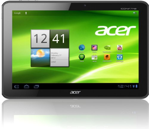 Acer Iconia A510 25,7 cm (10,1 Zoll) Tablet-PC (NVIDIA Tegra 3 Quad-Core, 1,3GHz, 1GB RAM, 32GB Flashspeicher, Android 4.0) silber