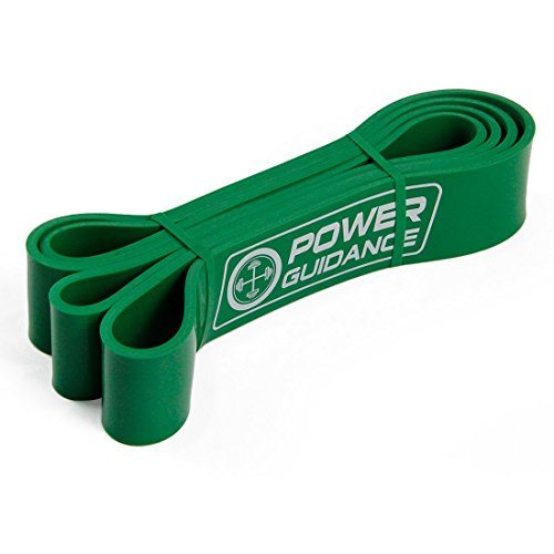 POWER GUIDANCE Pull Up Assist Bands - Stretch Resistance Band - Mobility Band - Powerlifting Bands - by Perfect for Body Stretching, Powerlifting, Resistance Training - Single Unit- Green