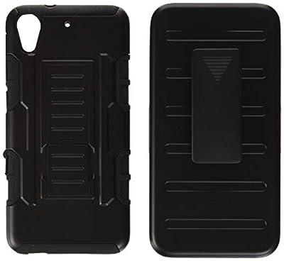 Cocomii Robot Belt Clip Holster HTC Desire 626/626s/626G Case, Slim Thin Matte Kickstand Swivel Belt Clip Holster Drop Protection Bumper Cover Compatible with HTC Desire 626/626s/626G (Black)