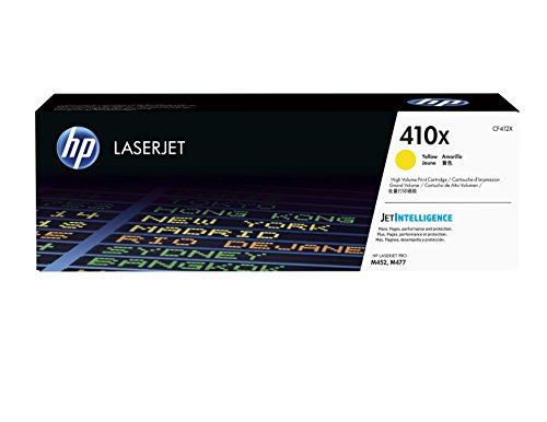HP 410X | CF412X | Toner Cartridge | Yellow | Works with HP Color LaserJet Pro M452 Series, M377dw, MFP 477 Series| High Yield