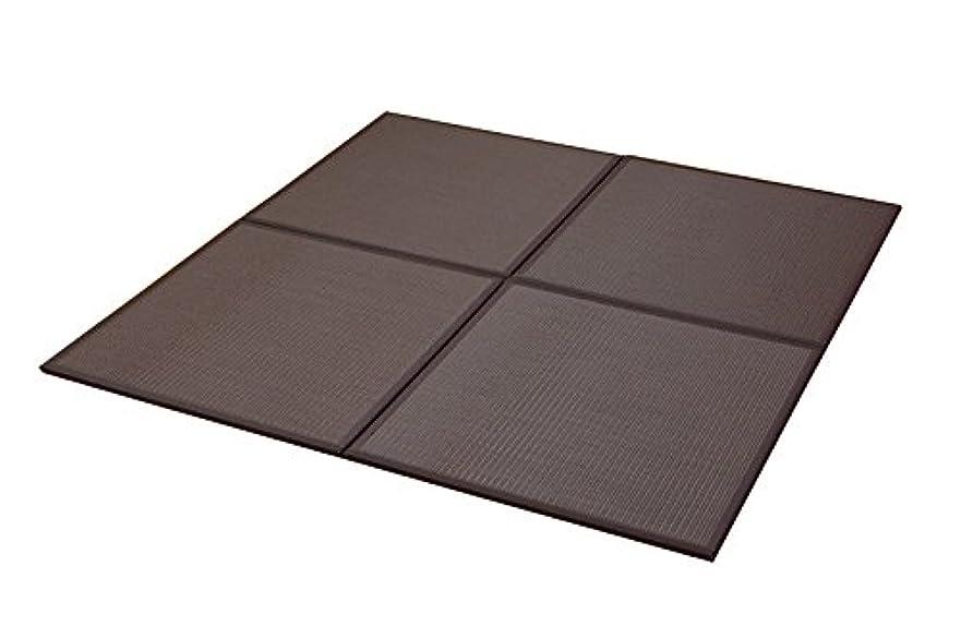 活気づく親指スペイン語イケヒコ 置き畳 ユニット畳 PP 軽量タイプ 『スカッシュ』 ブラウン 約82×82×1.7cm (9枚1セット)