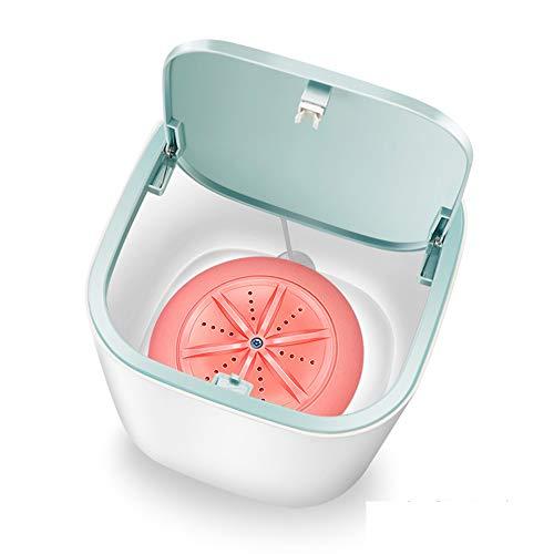 Zvivi Verbesserte Mini Ultraschall-Waschmaschine Faltbare Bewegliche Waschmaschine Eimer USB Und Plug Convenient Wäscherei Für Camping Dorms Geschäftsreise Und Kinder Wäscherei,Rosa