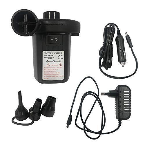 HENGMEI Elektrische Luftpumpe 2 in 1 Inflate und Deflate - Auto Elektropumpe Gebläsepumpe Luft 3 Adaptern, DC12V/AC230V