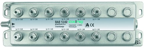 Buy Cheap Axing BAB 12-02 tap for CATV DVB-T 12-Way (5-1006 MHz) Metal housing F-connectors