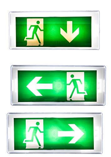 IP 20 LED Dauerlicht Notleuchte Notbeleuchtung Notausgang Fluchtwegleuchte Notlicht Fluchtweg EXIT (Dauerlicht IP20)