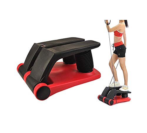 INTBUYING Stepper Climber Fitness Machine Resistant Cord Step Aerobics Machine Stair Stepper Exercise Equipment Exercise Slimming Machine