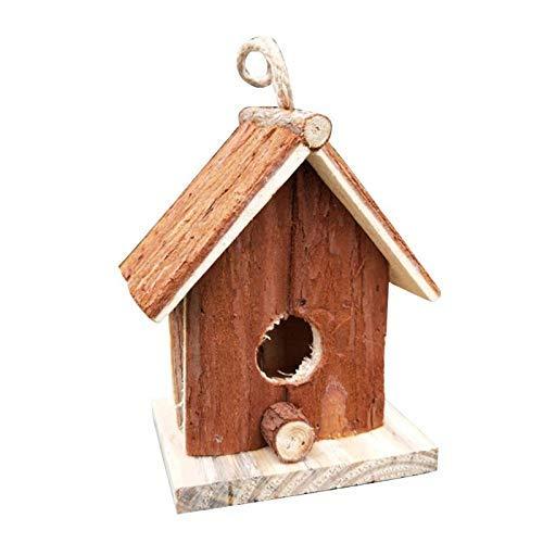 LIIYANN Nido de Pájaros Artesanías Casa de pájaros de Madera Lateral de...