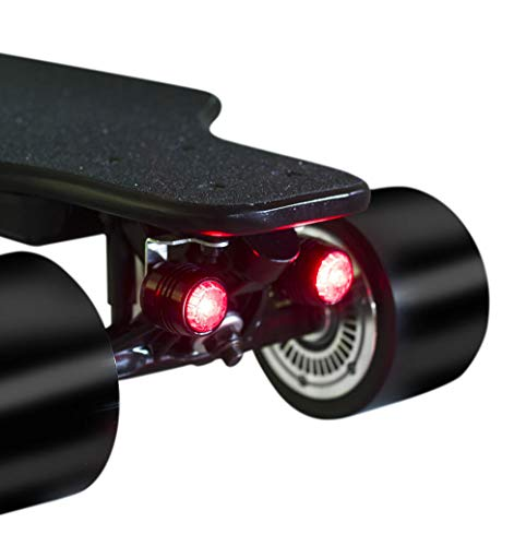 J.W. Elektrisches Skateboard LED-Licht Wasserdichtes Nachtfahrsicherheitslicht Longboard-Licht mit Vier Rädern Vier-Satz-LED-Warnlicht