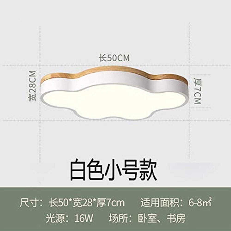 Zhouzhou666 Deckenleuchte, Log-Schlafzimmerlampe, Kinderzimmer, Led-Deckenleuchte, Wei Dreifarbig