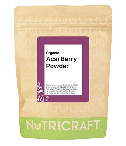 Organic Acai Berry Powder by Nukraft: 250g (Also Available in 500g, 1kg and 4kg)