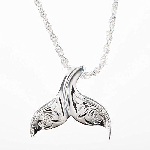 L.M.A.ハワイアンジュエリー ネックレス ペンダントトップ ヘッド ペンダント レディース レディス シルバー925 ホエールテール クジラ くじら 波柄