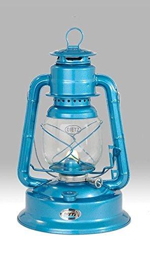 Dietz #1 Little Wizard Oil Lamp Burning Lantern Blue