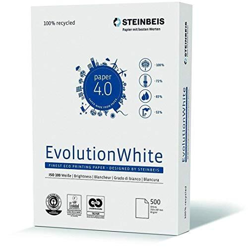 Steinbeis Evolution Blanco A4 80 g/m² 100% blanco, 500 hojas