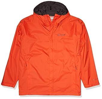 Columbia Men's Watertight II Waterproof, Breathable Rain Jacket, Wildfire, Small