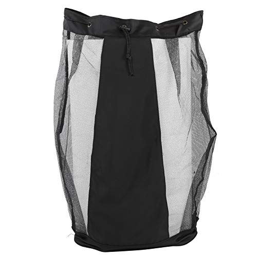 Keenso Large Capacity Mesh Ball Bag, Multi-Function Outdoor Sports Ball Storage Bag Outdoor Sports Net Bag for Football/Basketball/Rugby/Racket
