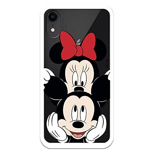 Coque pour iPhone XR officielle Disney Mickey et Minnie classique pour protéger votre téléphone. Coque pour Apple en silicone souple avec licence officielle Disney.