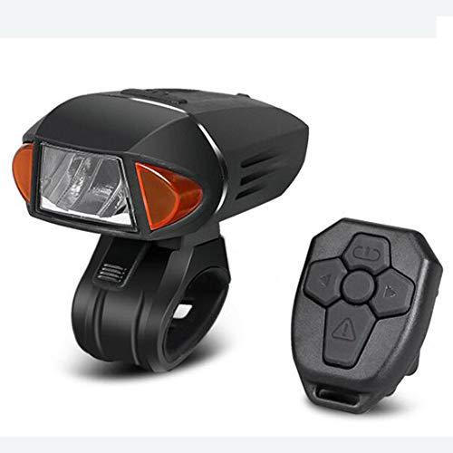 CHENJC Mountain Bike Lights with Horns, Car Headlights, Night Riding, Rainproof, USB Charging, Glare Flashlight Accessories, 3 Brightness Adjustments Bicycle Light Led Easy to Install,Black