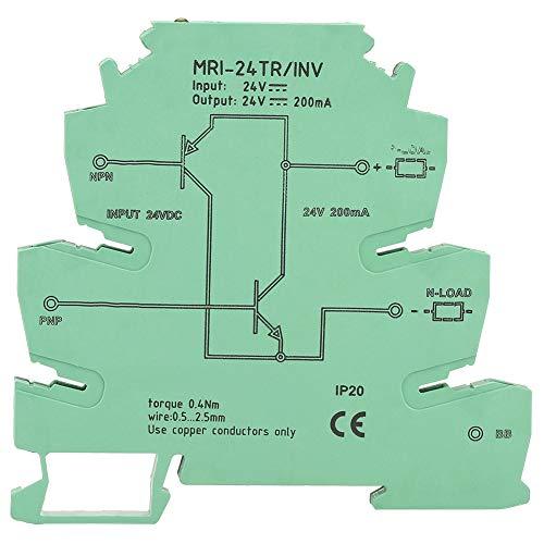 Convertidor de señal NPN PNP, Jectse MRI-24TR / INV Convertidor de señal NPN PNP PLC Sensor Polar IO Módulo de conversión de nivel Relé convertidor de señal