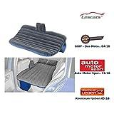 Lescars Autobett: Aufblasbares Bett für den Auto-Rücksitz mit 12-Volt-Luftpumpe (Aufblasbare Matratze Auto)