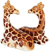Pacific Giftware Salt & Pepper Shakers - Giraffe Magnetic Salt and Pepper Shakers