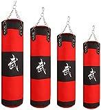 GXBCS Punching Bag Sacos Pesados Saco De Boxeo Conjunto de Saco de Boxeo de Tela Oxford Colgante Equipo de Kickboxing con Saco de Arena GXBCS0720(Color:Red;Size:120cm)