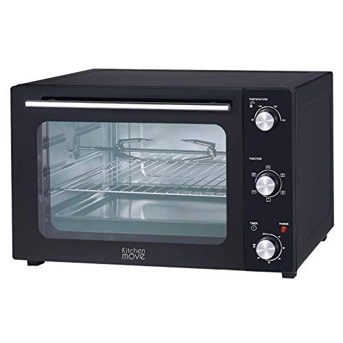 Four multifonction 48L chaleur tournante tournebroche grill 1800w ARIZONA noir 5 programmes de cuisson avec minuterie et accessoires