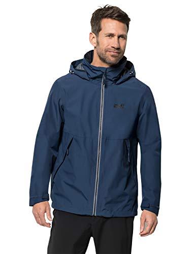 Jack Wolfskin Herren EVENDALE Jacket M Wetterschutzjacke, Dark Indigo, XL