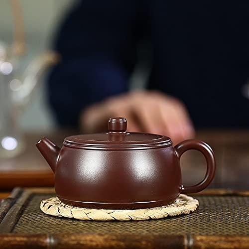 Yixing tetera de filtro de arcilla púrpura tetera de mineral crudo belleza tetera hecha a mano juego de té chino regalos 210 ml
