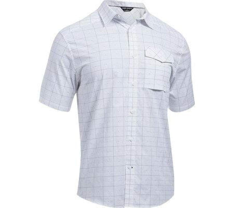アンダーアーマー シャツ ボタンダウン カジュアル メンズ Backwater SS Button Down Shirt White/White