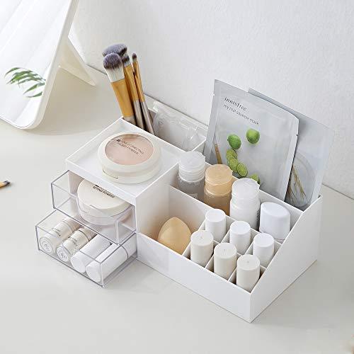 Dalanpa Desk Organizer with Drawer Cosmetic Storage Caddy Box