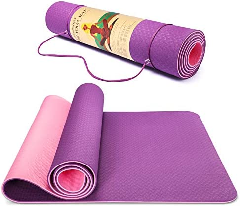 Smartor Yoga Mat 6mm Thick Yoga Mat Non Slip Exercise Fitness Mat with Carrying Strap Eco Friendly product image
