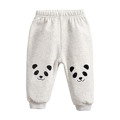Sanlutoz Tier Drucken Baby Hose Winter Warm Karikatur Hosen für Baby Mädchen Weich Baumwolle (12-18 Monate / 80 cm, BPW8164-PANDA)