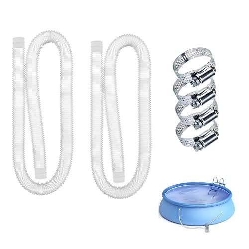 Taixinpower - Tubo di ricambio per piscine fuori terra, accessorio per piscina, 149,9 x 3,2 cm, facile da installare, filtro per piscina (2 tubi, 3,2 x 149,9 cm)