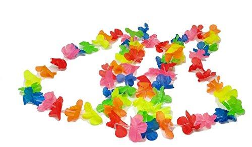 12 collares Hawaiane Light collar de flores artificiales para fiestas de cumpleaños