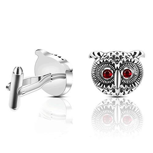 YWSZJ Gemelos Retro Animal Owl Design Ilustraciones de Arte Mano Material Material Material Gemelos Regalo