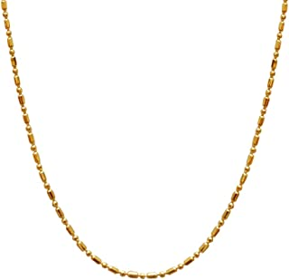 INFINITY Gold Plated Brass Fancy Chain for Women,Girls