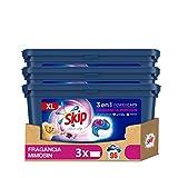 Skip Ultimate 3en1 Detergente Capsulas Fragancia Mimosín 32lav -Pack de 3