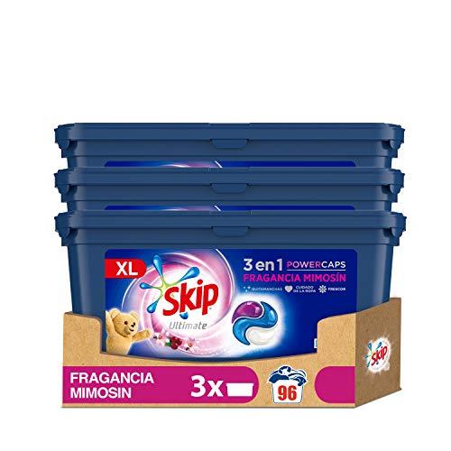 Skip Ultimate Detergente en Cápsulas Fragrancia Mimosín 32 lavados - Pack de 3