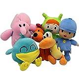 Pocoyo Plush Toy Cartoon Stuffed Animals Nina Loula Elly Pato Sleepy Bird Friends (6pcs Set)