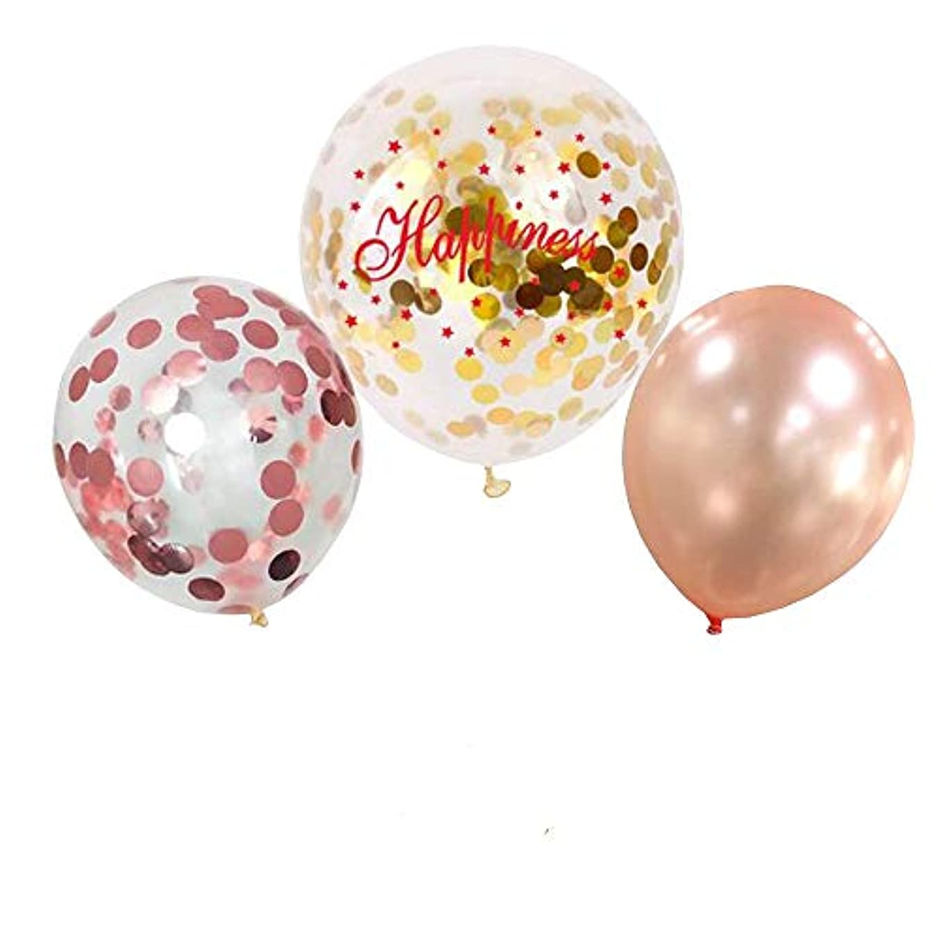 Confetti Balloons Rose and Gold 20 Pack | Wedding Engagement Birthday Bachelorette Party Decorations
