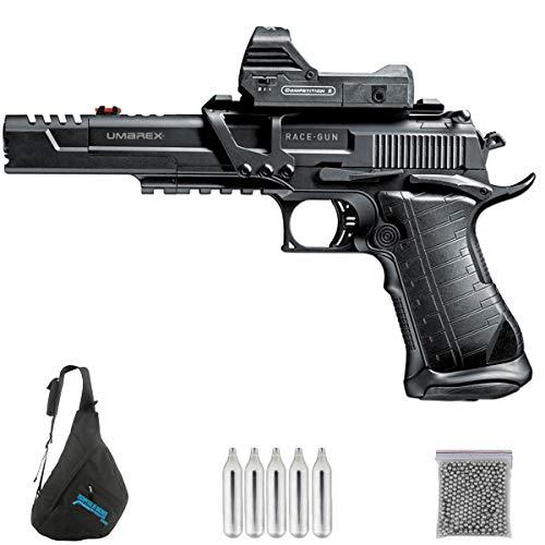 UMAREX UX RACE GUN Kit M12 | Pack Pistola de balines (perdigones o Bolas de Acero BB's). Arma de Aire comprimido.CO2. Calibre 4,5mm. 2.8 Julios.