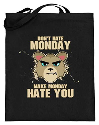Hoogwaardige jute zak (met lange hengsels) – hasse niet de maandag, breng hem aan je te huren. - Eenvoudig en grappig design.