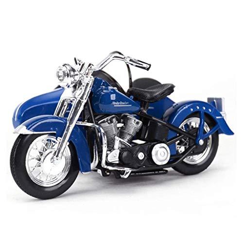 XHAEJ Modelo de automóviles Compatible con Harley Davidson Alloy Modelo Modelo Modelo Motocicleta Modelo 1/18 Decoración Niños Regalo Juguete Colección Adult (Color : Blue)