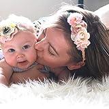 Simsly Boho Blume Mutter und Baby Kranz Krone Hochzeit Girlande Stirnband Blumen Haar Zubehr fr Frauen und Mdchen