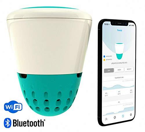 ICO Isolotto Technologie - Parameter PH/Chlor/Sale/Bromo / Wassertemperatur Schwimmbecken mit Bluetooth & Wi Fi - künstliche Intelligenz - Neuheit