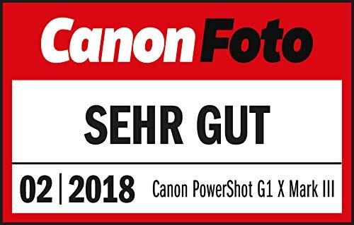 Canon PowerShot G3 X Digitalkamera - mit Ultra-Weitwinkelobjektiv (20,2 MP, 25-fach optischer Zoom, 8cm (3,15 Zoll) LCD-Touchscreen, klappbar, CMOS-Sensor, DIGIC6, WLAN) Kompakt, schwarz