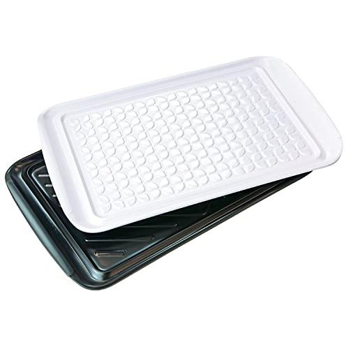 Tovolo Prep and Serve, Nesting, Dishwasher Safe BBQ Trays - Set of 2